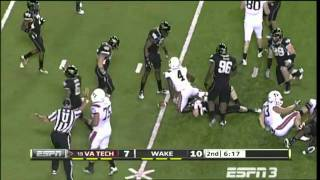 David Wilson vs Wake Forest 2011