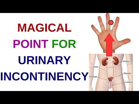 ACUPRESSURE POINTS For URINARY PROBLEMS||Urinary INCONTINENCE||Acupressure For Urine Control