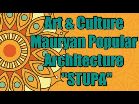 "IAS Art & Culture | Buddhist and Mauryan Architecture ""THE STUPA""