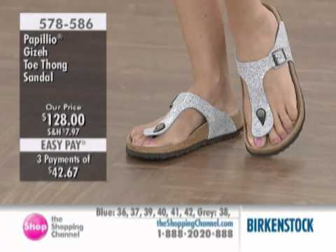 Birkenstock Papillio Thong Sandal with Buckle at The Shopping Channel 578586