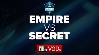 Empire vs Secret, game 1