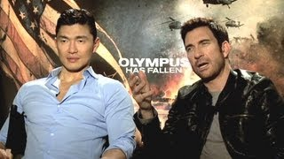 Dylan McDermott&Rick Yune Interview - Olympus Has Fallen (JoBlo.com)