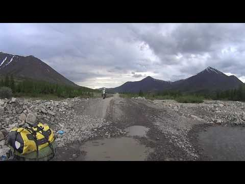 Road to Magadan - River for wusses:) 50 km before Kyubeme (видео)