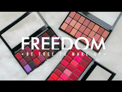 Freedom Makeup London Freedom Pro Lipstick Palette x 24 Reds