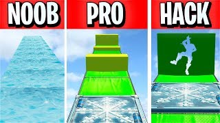 NOOB vs PRO vs HACKER Slide Deathrun... (Fortnite Creative)