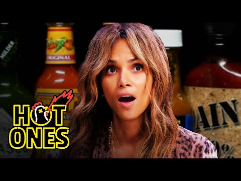Halle Berry Refuses to Lose to Spicy Wings  Hot Ones