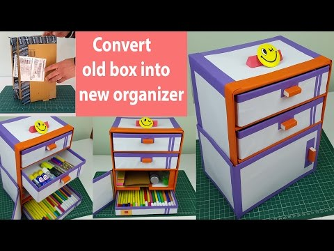 Video How to make a Desk organizer/ drawer organizer out of cardboard boxes. download in MP3, 3GP, MP4, WEBM, AVI, FLV January 2017
