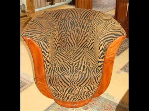 Collection of Art Deco antiques reproduction leather club chairs