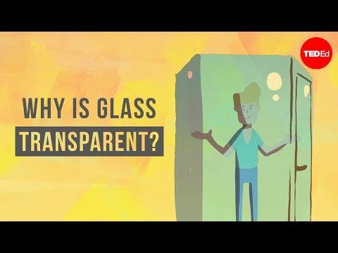 perchè il vetro è trasparente?