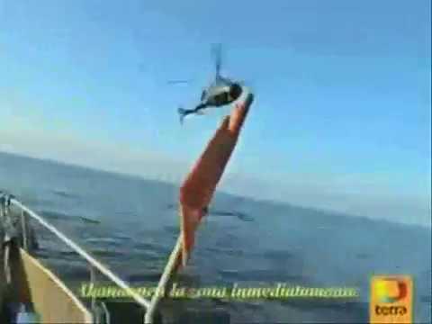 ufo si inabissa in mare