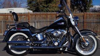 8. FOR SALE 2008 Harley Davidson FLSTN Softail Deluxe Custom Cruiser Motorcycle $10,599!