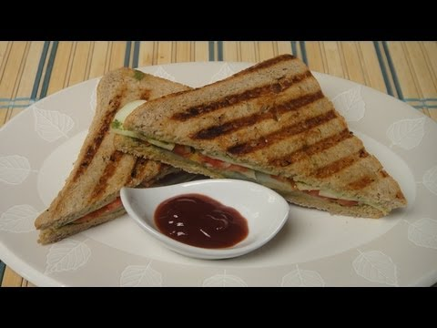 sandwich - Recipes for Beginners - Delicious vegetable sandwich grilled to perfection. http://www.facebook.com/ChefSanjeevKapoor http://twitter.com/#!/khanakhazana.