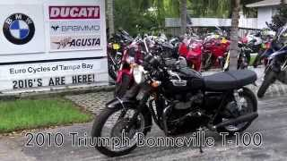 9. Pre-Owned 2010 Triumph Bonneville T-100 at Euro Cycles of Tampa Bay