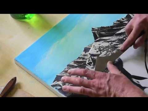 Malen & Spachteln mit Acryl auf Leinwand…