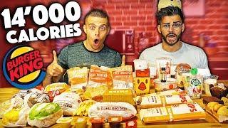 ACHETER TOUS LES PRODUITS DE LA CARTE BURGER KING [+14'000 calories] (feat. Alan FoodChallenge)