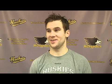 David Johnstone Postgame Interview vs. Northern Michigan 2-21-14