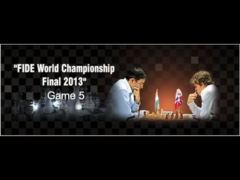Game 5 – Viswanathan Anand vs Magnus Carlsen | FIDE World Chess Champion