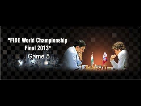 Game 5 – Viswanathan Anand vs Magnus Carlsen | FIDE World Chess Champion