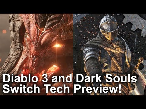 Dark Souls + Diablo 3 on Switch: First Look at Handheld Gameplay