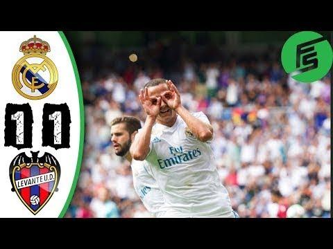 Real Madrid vs Levante 1-1 - Highlights & Goals - 09 September 2017[Football]
