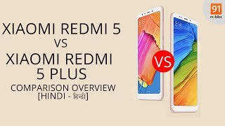 Xiaomi Redmi 5 Plus & Xiaomi Redmi 5 : Comparison Overview [Hindi-हिन्दी]