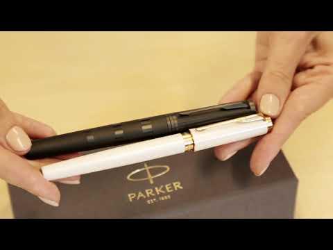 1935166 Женский подарочный набор Parker с записной книжкой и ручкой Parker 5th Ingenuity Slim Pearl PGT