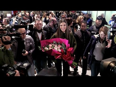 Miss Universe  Iris Mittenaere comes back to France for the first time since awarded
