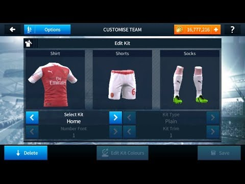 Import Arsenal 2018/19 Kits And Logo In Dream League Soccer 18