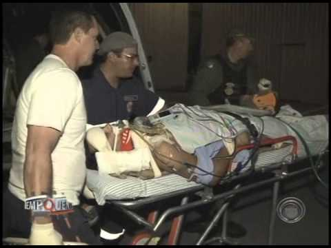 Vítima de acidente em Jacarezinho é transferida de helicóptero para Londrina (19/07)