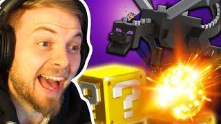 Beating Minecraft Using LUCKY BLOCKS!