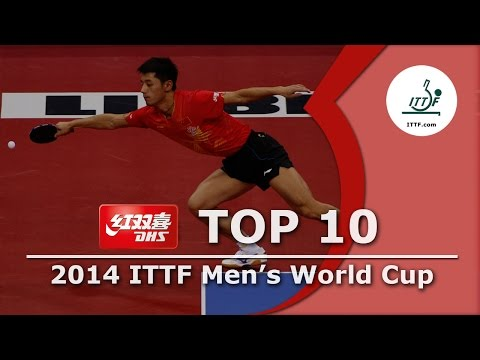 Cup - Subscribe here for more official Table Tennis highlights: http://bit.ly/ittfchannel. Watch the Top 10 shots from the 2014 ITTF Men's World Cup, presented by DHS! DHS Official Website: http://www....