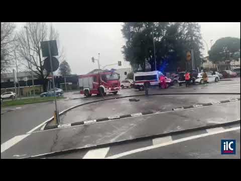 Lodi, incidente in viale Milano
