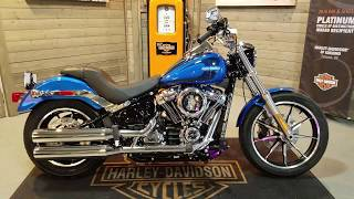 6. 2018 Softail Low Rider FXLR electric blue