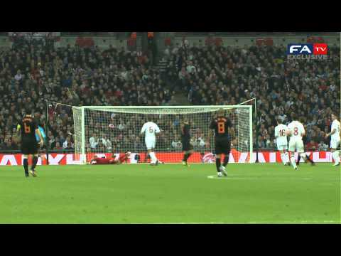 England 2-3 Holland Goals Pitch Side Exclusive 29/2/12