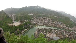 Zhenyuan (Guizhou) China  City new picture : Overlooking the town of Zhenyuan, Guizhou, China