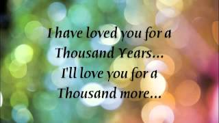<b>Christina Perri</b>   A Thousand Years