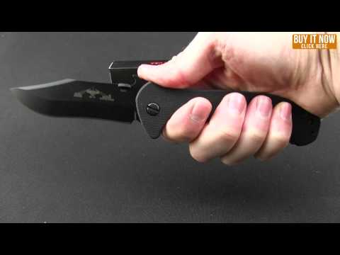 "Emerson Patriot SFS Knife Black G-10 (3.9"" Stonewash Serr)"