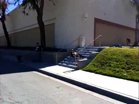 Hård landning på kickbike
