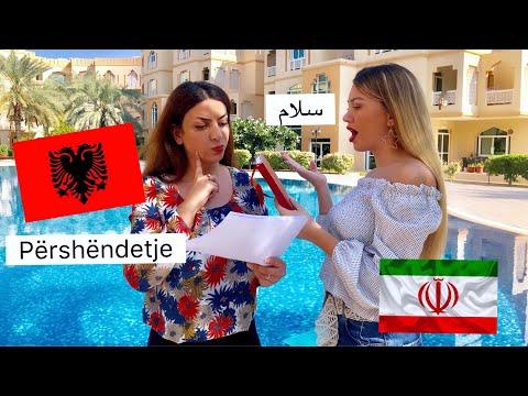 Shoqja ime provon te flas SHQIP (looot 😂😂😂)   Albanian VS Persian   Language Challenge   ADISA GJO