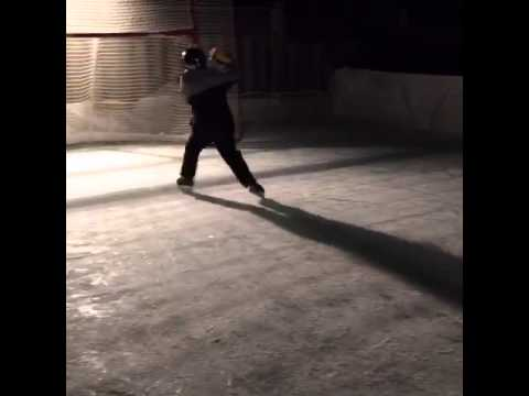 9 Year Old Scores Awesome Hockey Goal