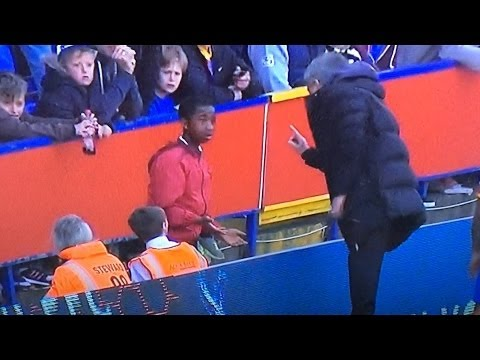 Jose Mourinho stopped Cesar Azpilicueta from hitting the Crystal Palace ball boy