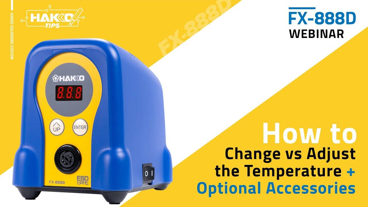 """Eye On Hakko presents """"How To Change vs Adjust the FX-888D Soldering Temperature"""""""