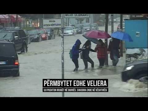 Përmbytet Durrësi, uji pushton edhe Velierën - Top Channel Albania - News - Lajme (видео)
