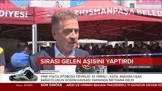 Gaziosmanpaşa Meydanı'nda Aşı Uygulaması - 24 Tv