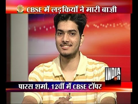 CBSE Class 12 topper Paras Sharma on India TV, Part 1