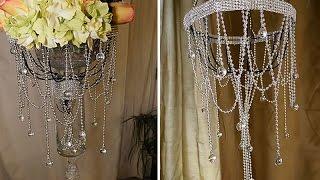 DIY | Dollar Tree Chandelier and Wedding Decorations
