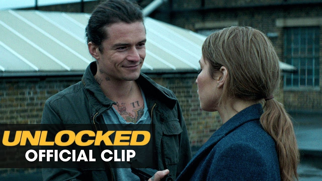 The Truth has Many Enemies. Noomi Rapace & Orlando Bloom rush to prevent a Biological attack in 'Unlocked' (Clip) with John Malkovich & More