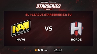 Natus Vincere vs Horde, Game 2, SL i-League StarSeries Season 3, EU