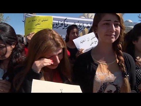 Ιράκ: Διαδήλωση για τις απαχθείσες από το ΙΚΙΛ γυναίκες έκαναν Γιαζιντίτες