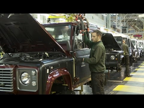 defender - Watch the Land Rover Defender being assembled at the company's Solihull facility, UK. Shot in 2015.